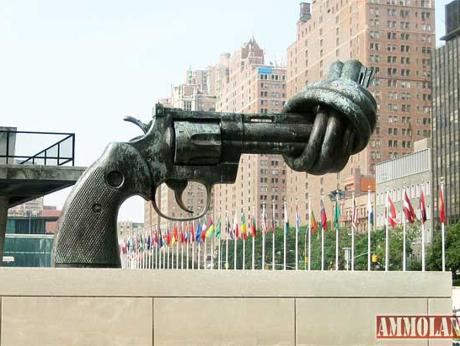 United Nations War on Guns Monument